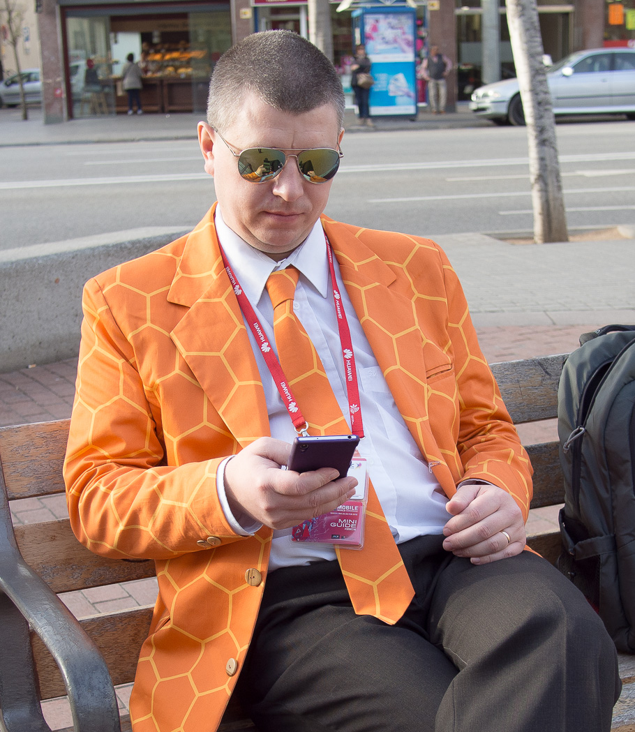 Man in orange jacket - CECO man